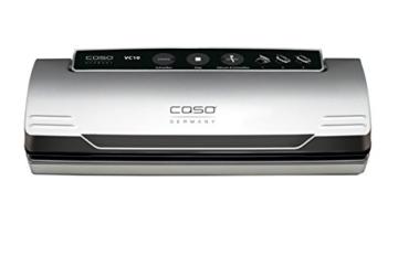 CASO VC 10 Vakuumierer (1340) / 30 cm lange Schweißnaht / natürliches Aufbewahren ohne Konservierungsstoffe / inkl. 10 gratis Profi-Beutel - 7