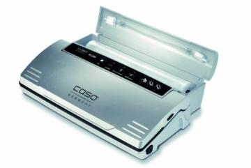 CASO VC 200 Vakuumierer mit Folienbox und Cutter (1390) / doppelte Schweißnaht / natürliches Aufbewahren ohne Konservierungsstoffe / inkl. 2 gratis Profi-Beutel & Vakuumierschlauch für Behälter - 2