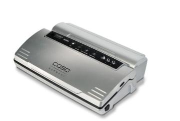 CASO VC 200 Vakuumierer mit Folienbox und Cutter (1390) / doppelte Schweißnaht / natürliches Aufbewahren ohne Konservierungsstoffe / inkl. 2 gratis Profi-Beutel & Vakuumierschlauch für Behälter - 1