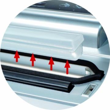 CASO VC 200 Vakuumierer mit Folienbox und Cutter (1390) / doppelte Schweißnaht / natürliches Aufbewahren ohne Konservierungsstoffe / inkl. 2 gratis Profi-Beutel & Vakuumierschlauch für Behälter - 6