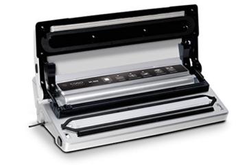 CASO VC 300 Vakuumierer mit Folienbox und Cutter (1392) / regulierbare Vakuumstärke/ doppelte Schweißnaht / natürliches Aufbewahren ohne Konservierungsstoffe / inkl. 2 Profi-Folienrollen & Vakuumiersachlauch für Behälter - 7