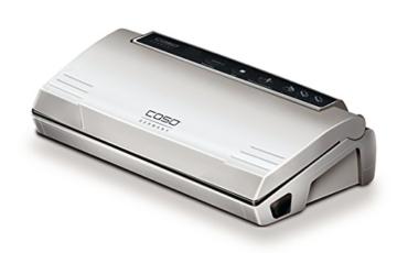 Caso VC100 1380 Vakuumierer (120W, 300mm Rollenbreite, Vakuumregulierung, inkl. 10 Beutel) silber - 1