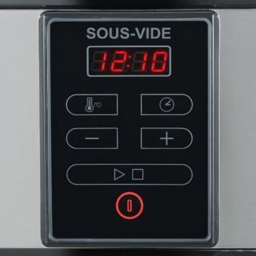 Severin SV 2447 Sous-Vide Garer, 6 L, 550 W, edelstahl gebürstet, schwarz - 3