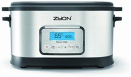 Zyon Premium-Vakuumgarer / Sous Vide zum langsamen Garen im Wasserbad, 8,5 l Fassungsvermögen; 520 W, inklusive Gestellen und Zangen - 1