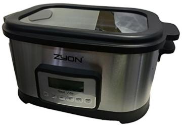 Zyon Premium-Vakuumgarer / Sous Vide zum langsamen Garen im Wasserbad, 8,5 l Fassungsvermögen; 520 W, inklusive Gestellen und Zangen - 4