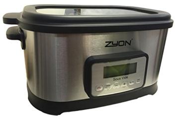 Zyon Premium-Vakuumgarer / Sous Vide zum langsamen Garen im Wasserbad, 8,5 l Fassungsvermögen; 520 W, inklusive Gestellen und Zangen - 5