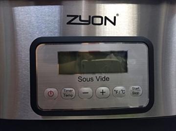 Zyon Premium-Vakuumgarer / Sous Vide zum langsamen Garen im Wasserbad, 8,5 l Fassungsvermögen; 520 W, inklusive Gestellen und Zangen - 6