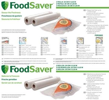 Foodsaver FSR2802-I Vakuum-Rollen 2 Stück 28x550 cm / Folienrollen für Lebensmittel / Vakuumierer - 2